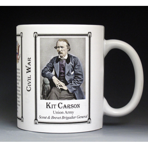 Kit Carson, Civil War Union Army history mug.