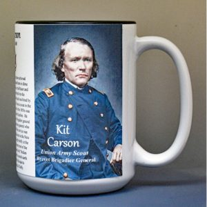 Kit Carson, Union Army Scout, US Civil War biographical history mug.