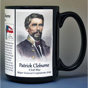 Patrick Cleburne, US Civil War biographical history mug.