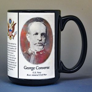 George Converse, US Navy Rear Admiral, US Civil War biographical history mug.