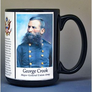 George Crook, US Civil War biographical history mug.