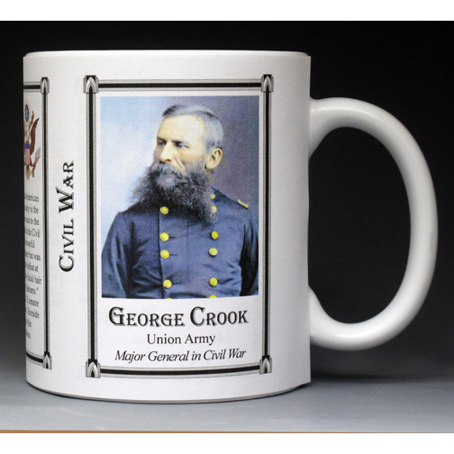 George Crook Civil War Union Army history mug.