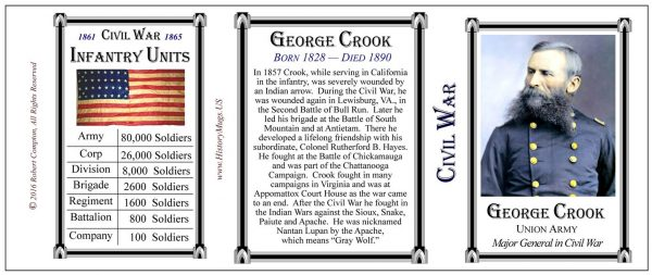 Crook,George- Tri Panel-Color-Infantry
