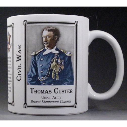 Thomas Custer Civil War Union Army history mug.