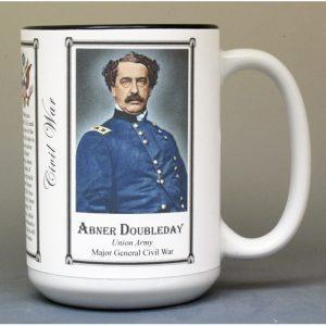 Abner Doubleday, Civil War biographical history mug.