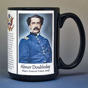 Abner Doubleday, Major General Union Army, US Civil War biographical history mug.