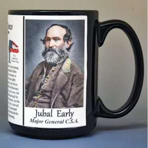 Jubal Early, Major General C.S.A. biographical history mug.