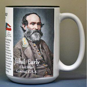 Jubal Early, US Civil War biographical history mug.