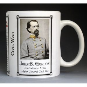 John B. Gordon Civil War history mug.