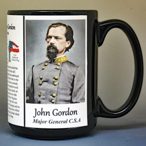 John Gordon, US Civil War biographical history mug.