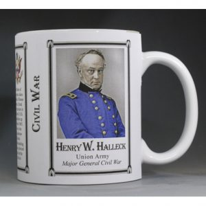 Henry Halleck Civil War Union Army history mug.