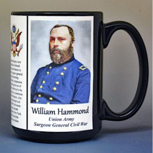 William Hammond, Surgeon General Union Army, US Civil War biographical history mug.
