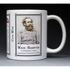 Wade Hampton Civil War history mug.
