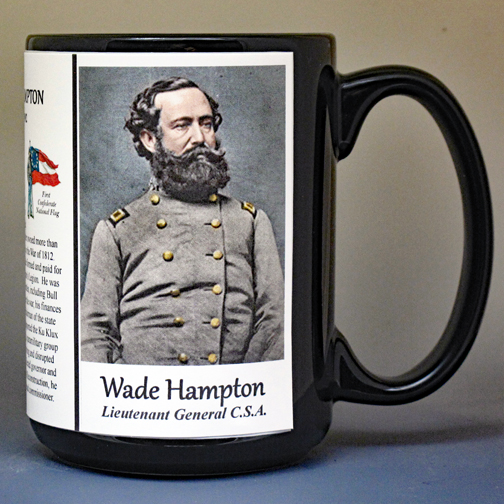Wade Hampton, US Civil War biographical history mug.