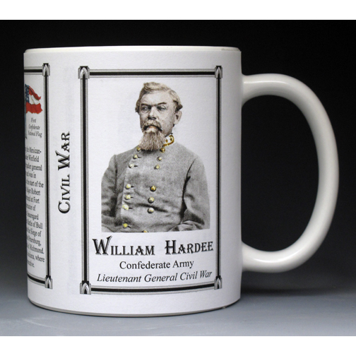 William Hardee Civil War history mug.