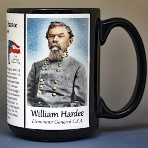 William Hardee, US Civil War biographical history mug.
