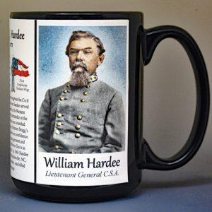 William Hardee, US Civil War biographical history mug.