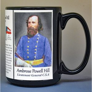 Ambrose Powell Hill, Confederate Army, US Civil War biographical history mug.