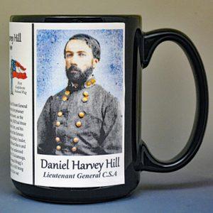 Daniel Harvey Hill, Confederate Army, US Civil War biographical history mug.
