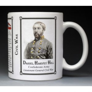 Daniel Harvey Hill Civil War history mug.