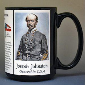 Joseph Johnston, Confederate Army, US Civil War biographical history mug.