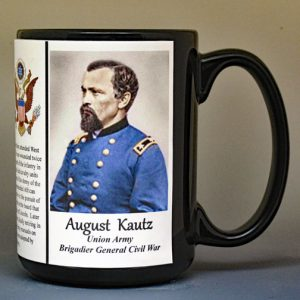 August Kautz, Union Army, US Civil War biographical history mug.