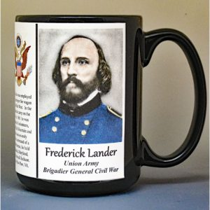Frederick Lander, Union Army, US Civil War biographical history mug.