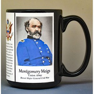 Montgomery Meigs, Union Army, US Civil War biographical history mug.