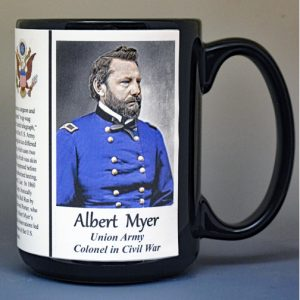 Albert Myer, Union Army, US Civil War biographical history mug.