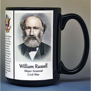 William Russell, Union Army, US Civil War biographical history mug.
