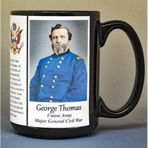 George Thomas, Major General Union Army, US Civil War biographical history mug.