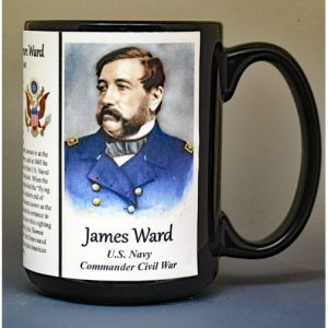 James Ward, Commander US Navy, US Civil War biographical history mug.
