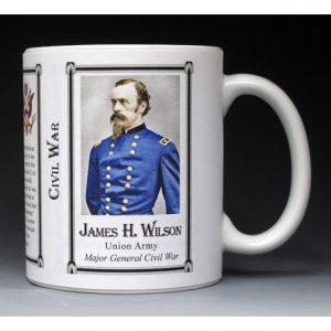 James H. Wilson Civil War Union Army history mug.
