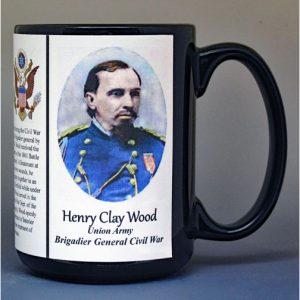 Henry Clay Wood, Brigadier General Union Army, US Civil War biographical history mug.