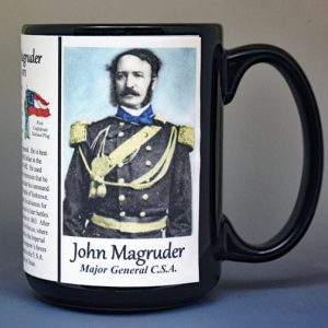 John Magruder, Confederate Army, US Civil War biographical history mug.