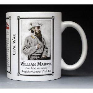 William Mahone Civil War history mug.