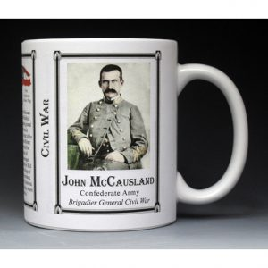John McCausland Civil War history mug.