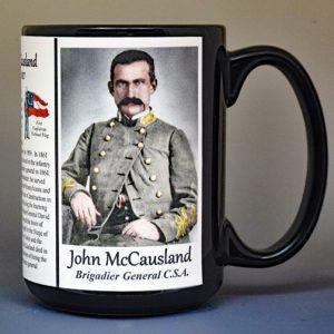 John McCausland, Confederate Army, US Civil War biographical history mug.