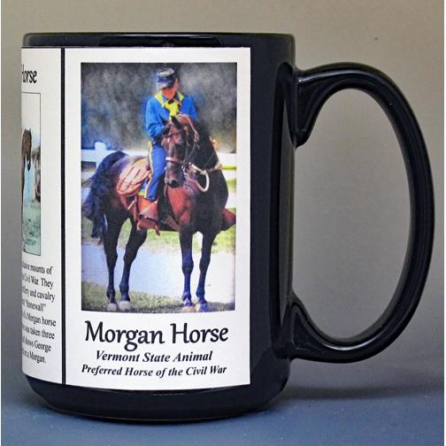 Morgan Horse, US Civil War biographical history mug.