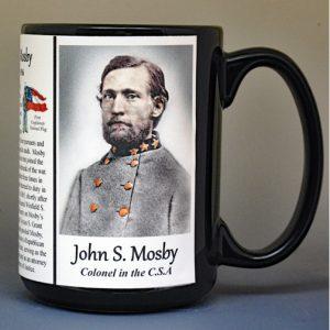 John Mosby, Confederate Army, US Civil War biographical history mug.
