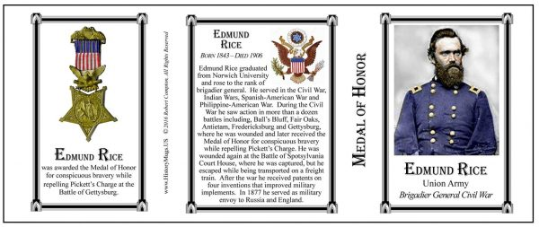 Edmund Rice Medal of Honor history mug tri-panel.