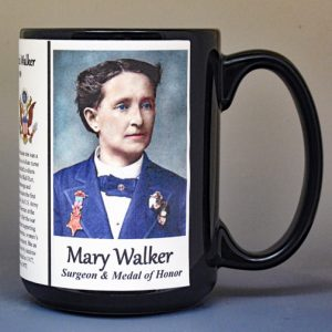 Mary Walker, Medal of Honor recipient biographical history mug.