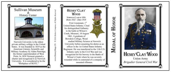 Wood,  Henry Clay – Tri Panel MOH
