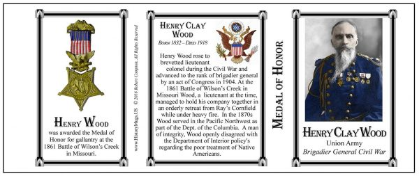 Henry Clay Wood, Medal of Honor history mug tri-panel.