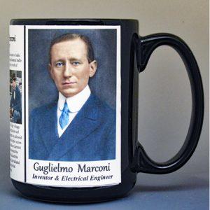 Guglielmo Marconi, scientist & inventor biographical history mug.