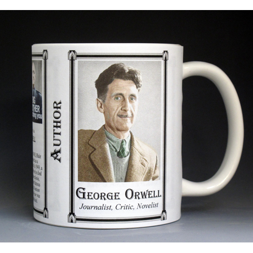 George Orwell Author history mug.