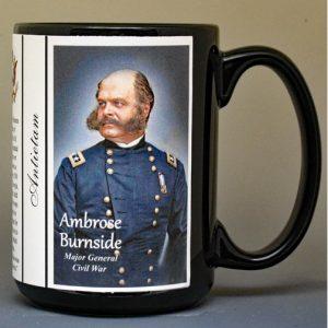 Ambrose Burnside, Battle of Antietam biographical history mug.