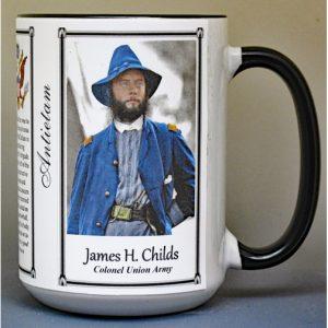James Childs, Battle of Antietam biographical history mug.