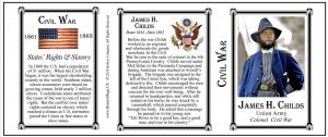 James Childs Civil War Union Army history mug tri-panel.