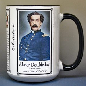 Abner Doubleday, Battle of Antietam biographical history mug.